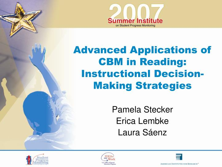 Advanced Applications of CBM in Reading: