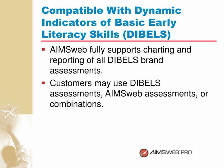 Compatible With Dynamic Indicators of Basic Early Literacy Skills (DIBELS)