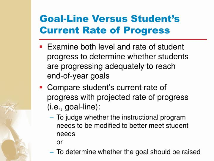 Goal-Line Versus Student's Current Rate of Progress