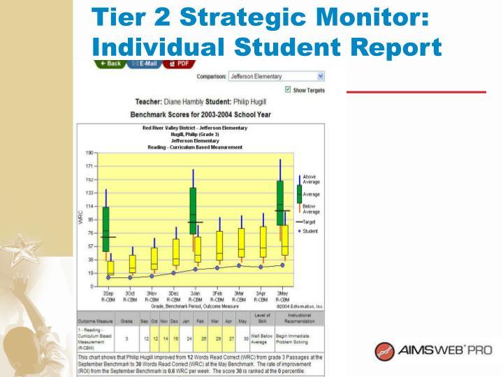 Tier 2 Strategic Monitor: