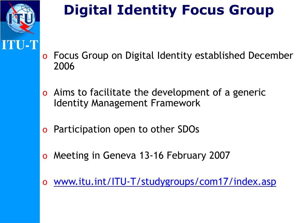 Digital Identity Focus Group