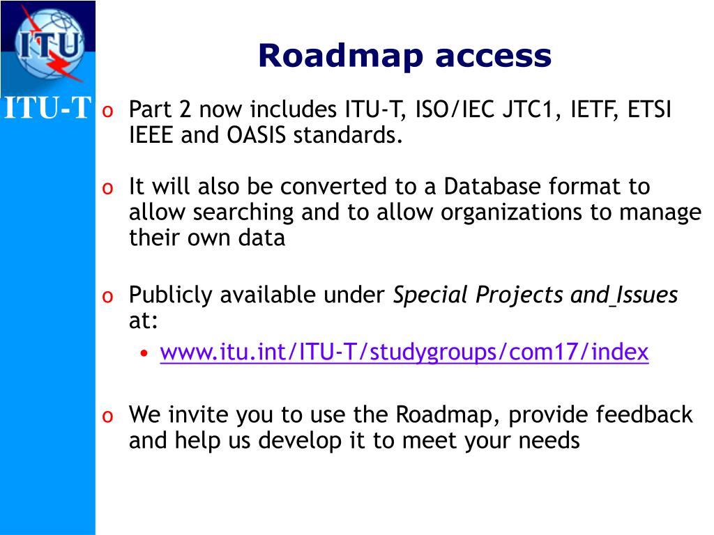 Roadmap access