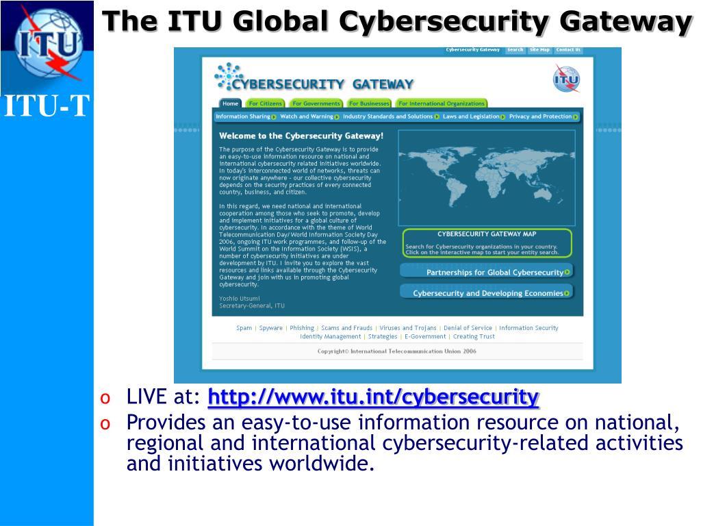 The ITU Global Cybersecurity Gateway