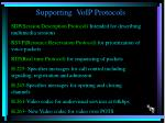 supporting voip protocols