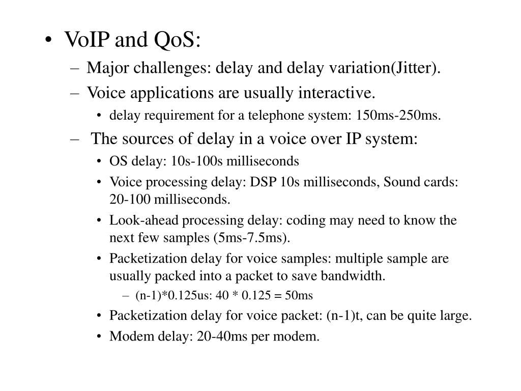 VoIP and QoS: