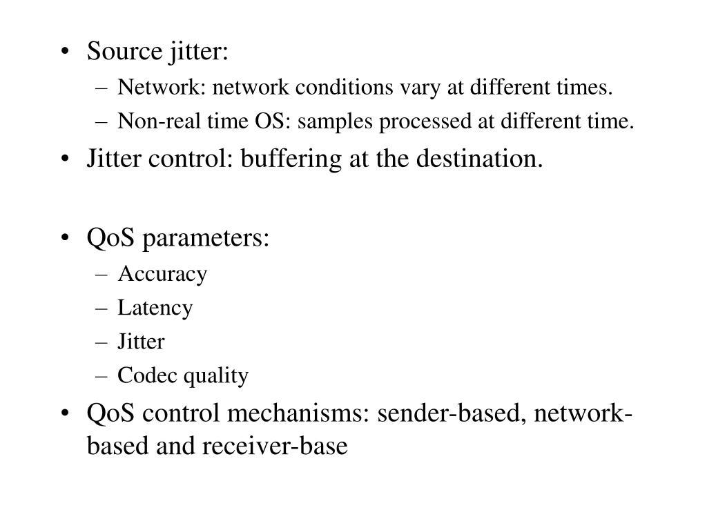 Source jitter:
