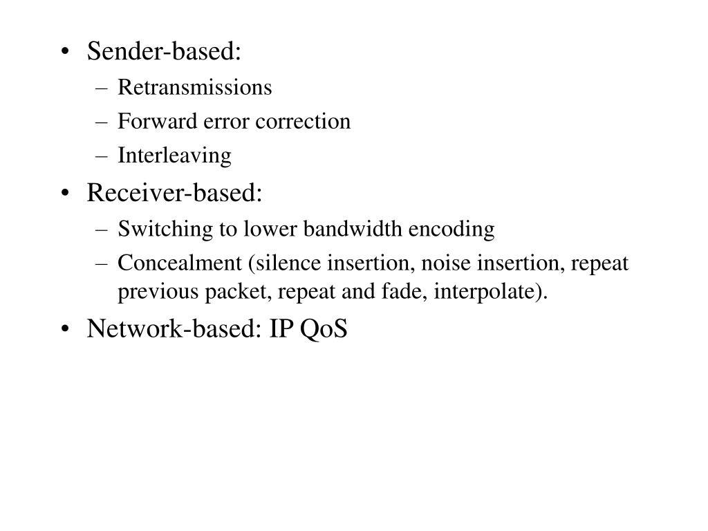 Sender-based: