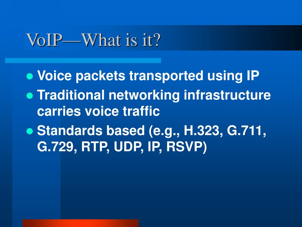 VoIP—What is it?