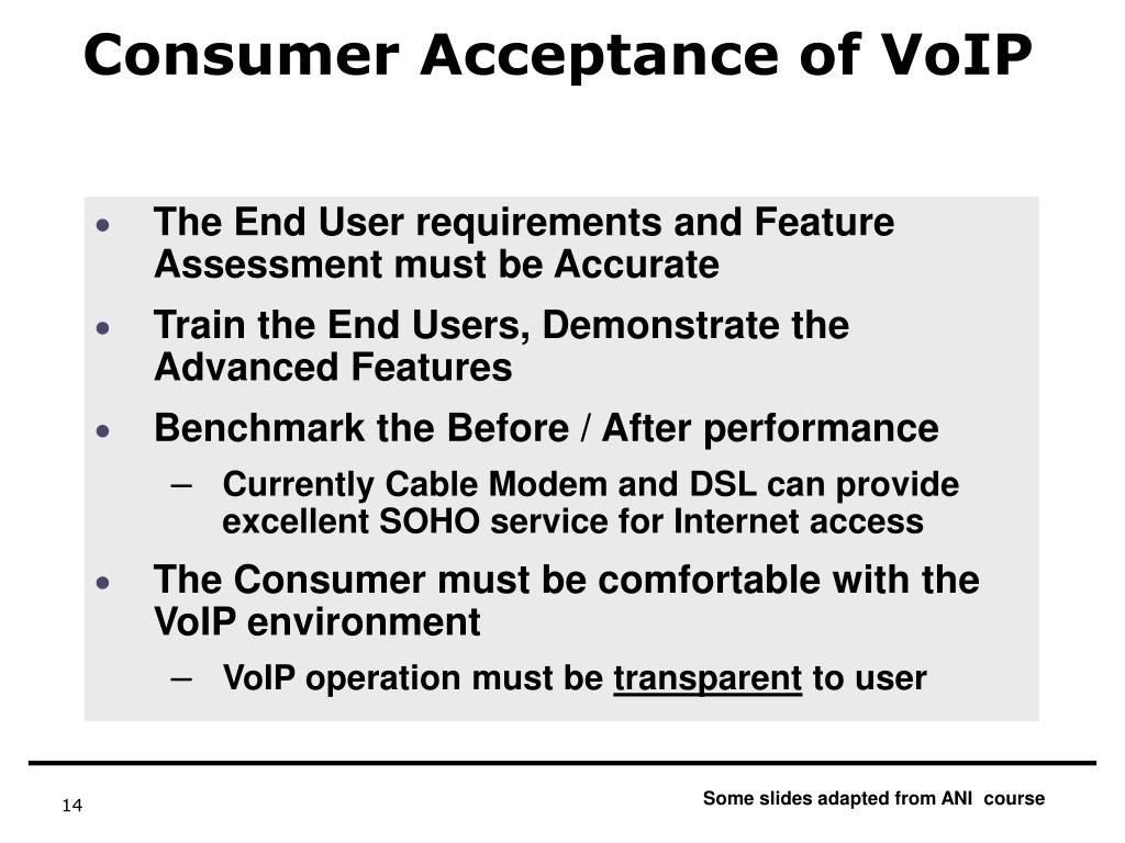 Consumer Acceptance of VoIP