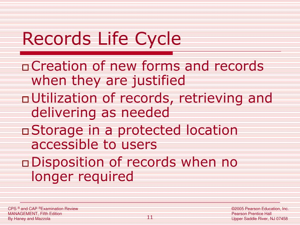 Records Life Cycle