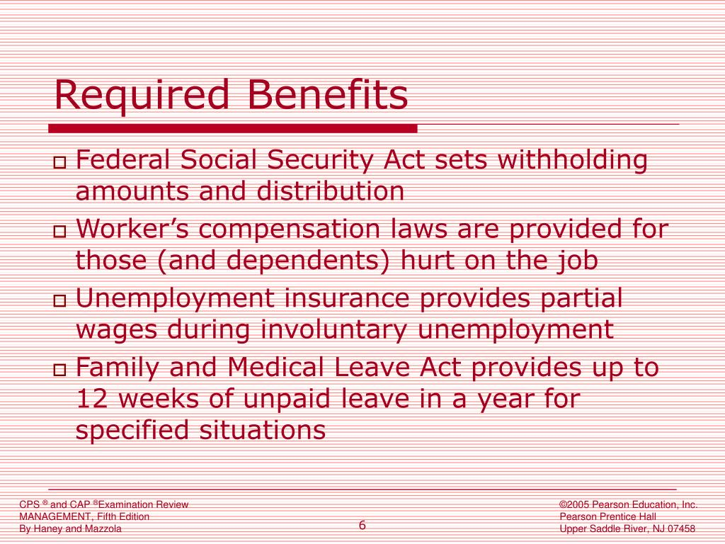 Required Benefits
