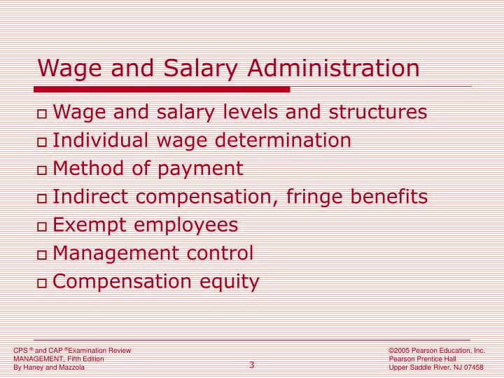 Wage and salary administration l.jpg