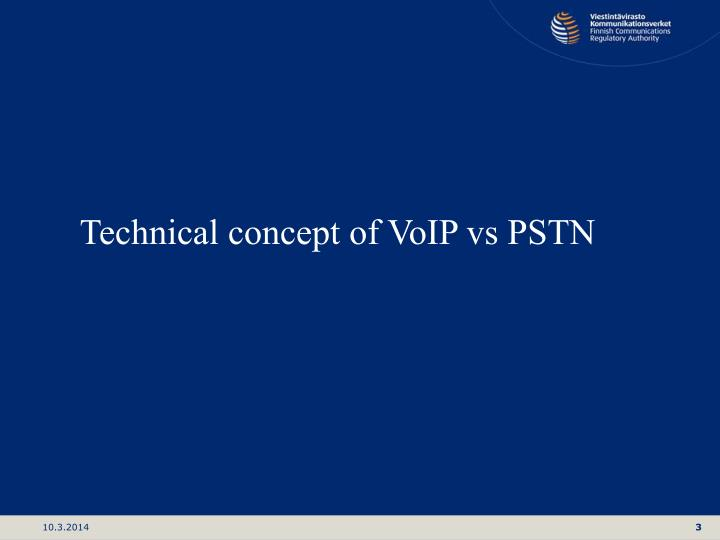 Technical concept of VoIP vs PSTN