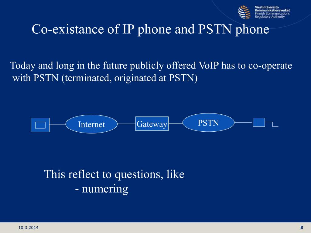 Co-existance of IP phone and PSTN phone