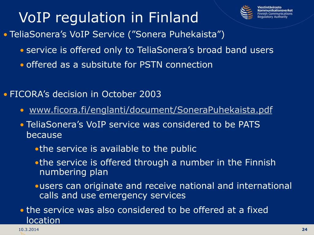 VoIP regulation in Finland