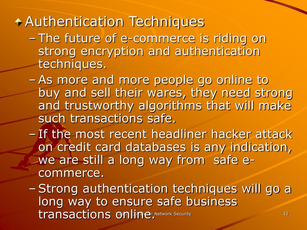 Authentication Techniques