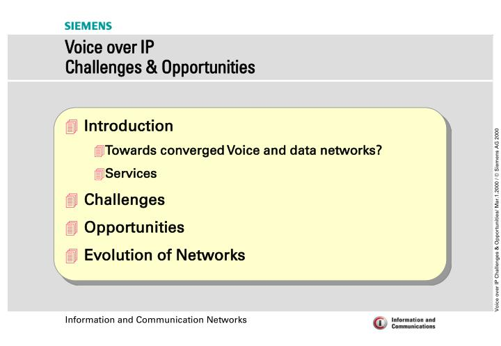 Voice over ip challenges opportunities