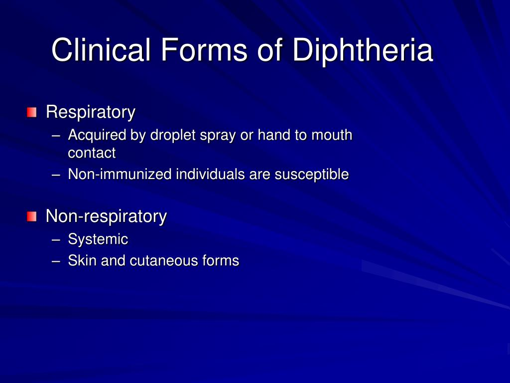 Clinical Forms of Diphtheria