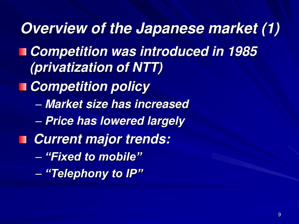 Overview of the Japanese market (1)