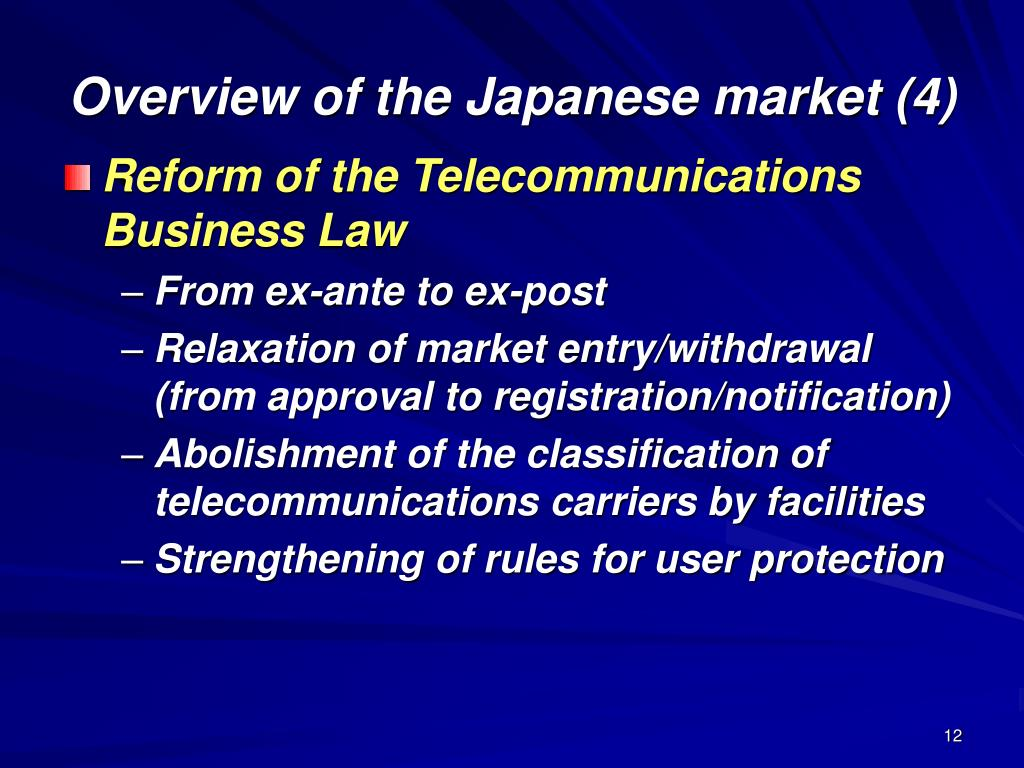 Overview of the Japanese market (4)