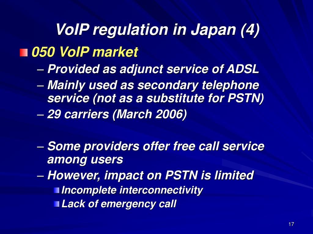 VoIP regulation in Japan (4)