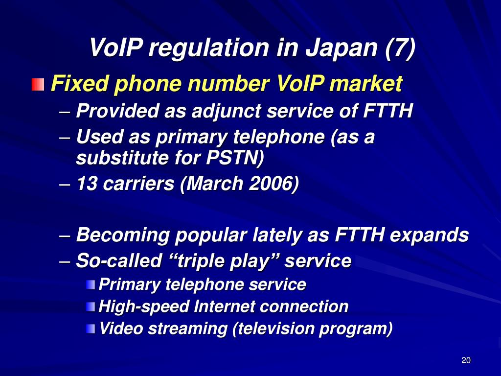 VoIP regulation in Japan (7)
