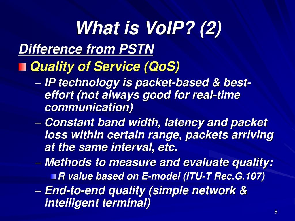 What is VoIP? (2)