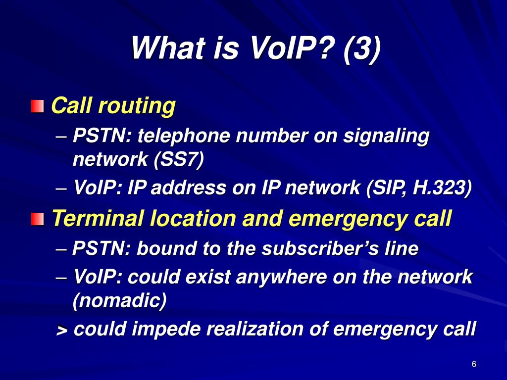 What is VoIP? (3)