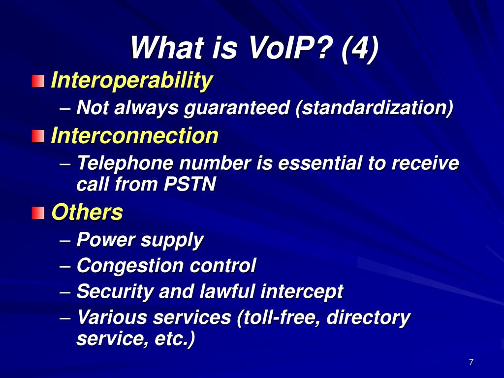 What is VoIP? (4)
