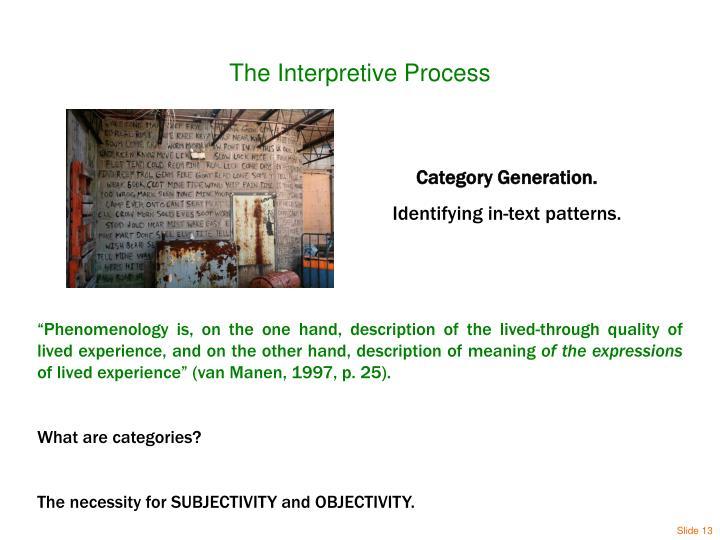 The Interpretive Process