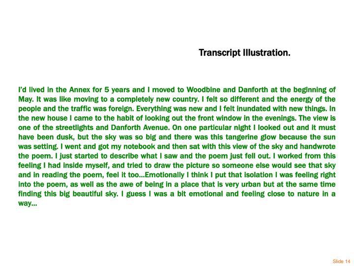 Transcript Illustration.