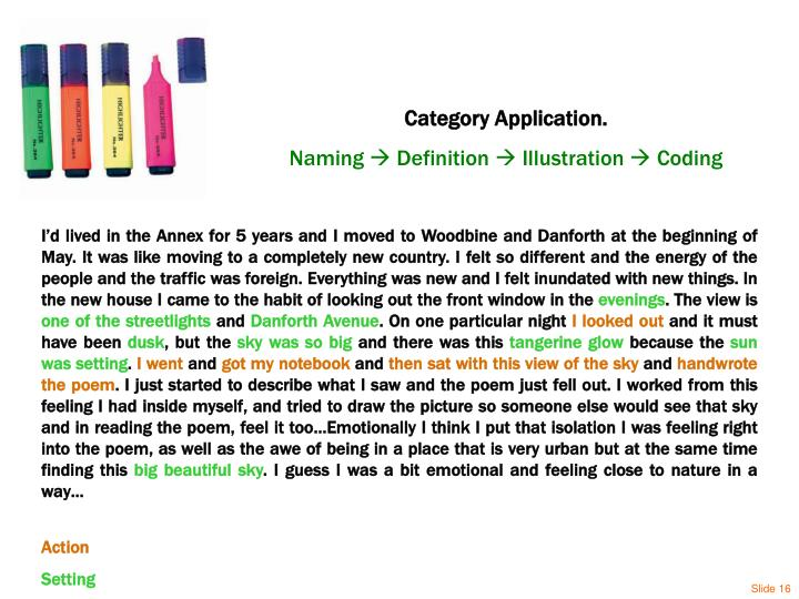 Category Application.