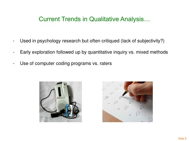 Current Trends in Qualitative Analysis…