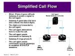 simplified call flow
