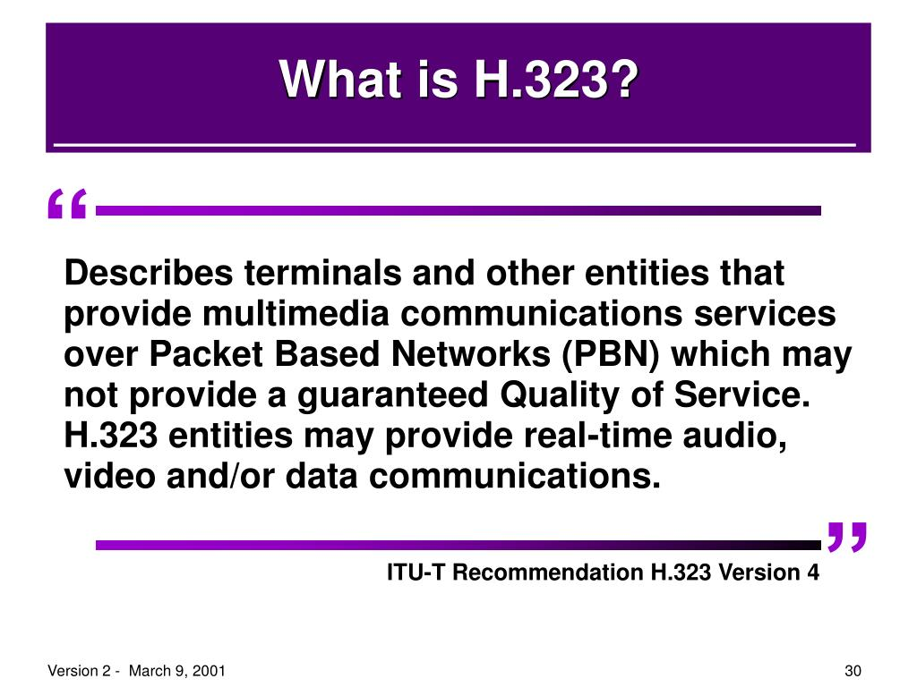 What is H.323?