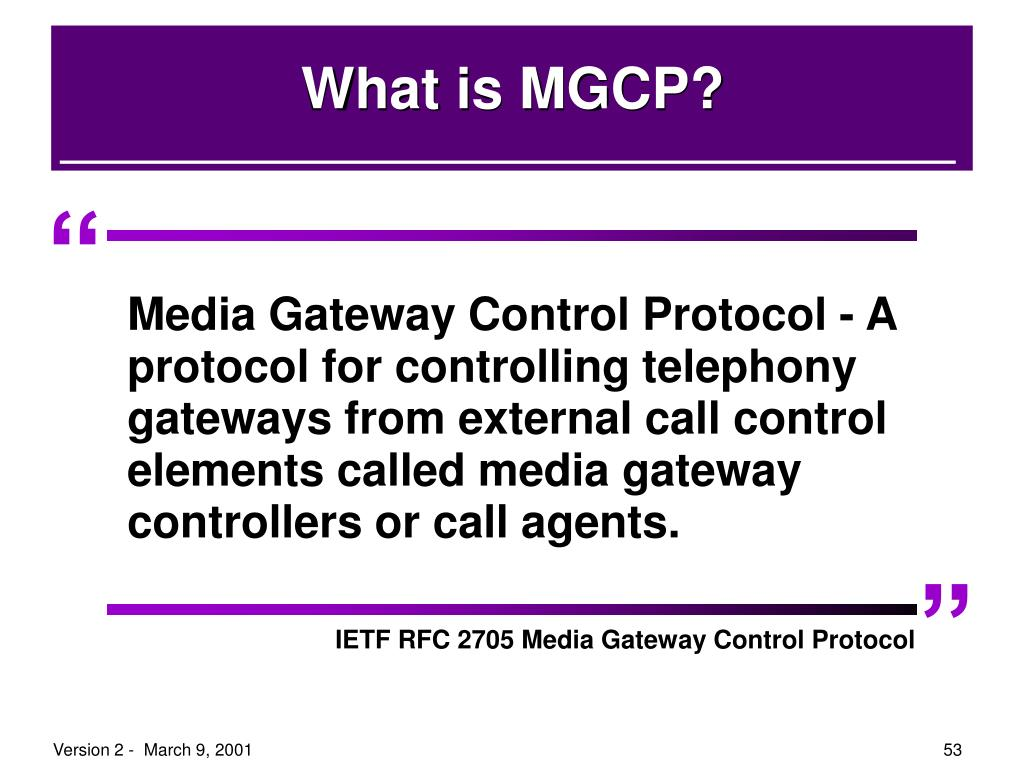What is MGCP?