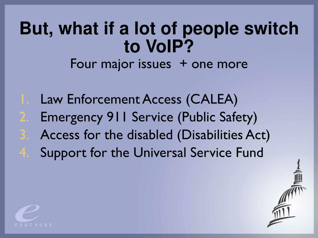 But, what if a lot of people switch to VoIP?