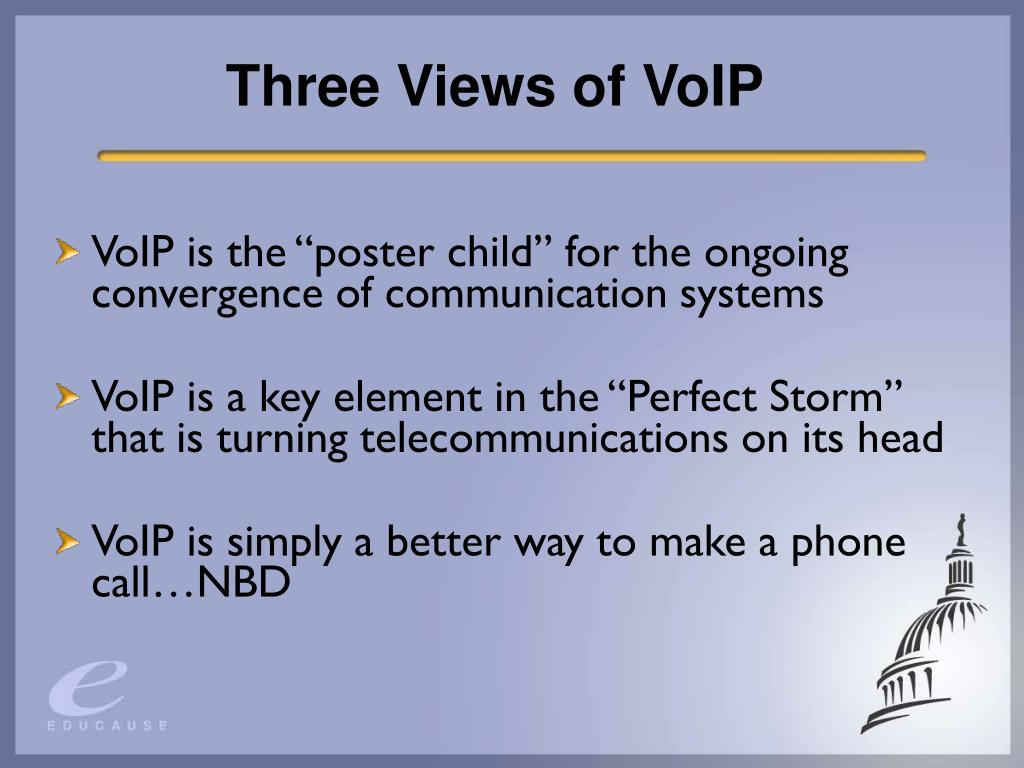 Three Views of VoIP