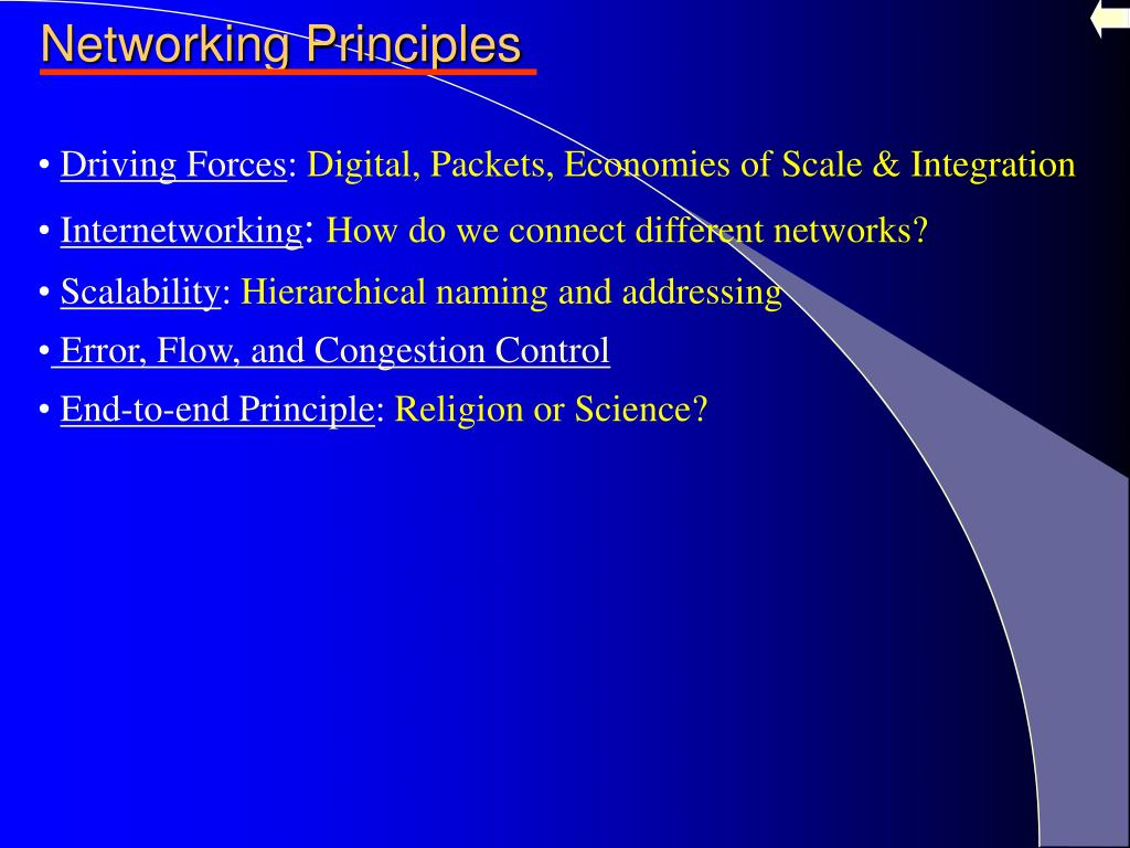 Networking Principles