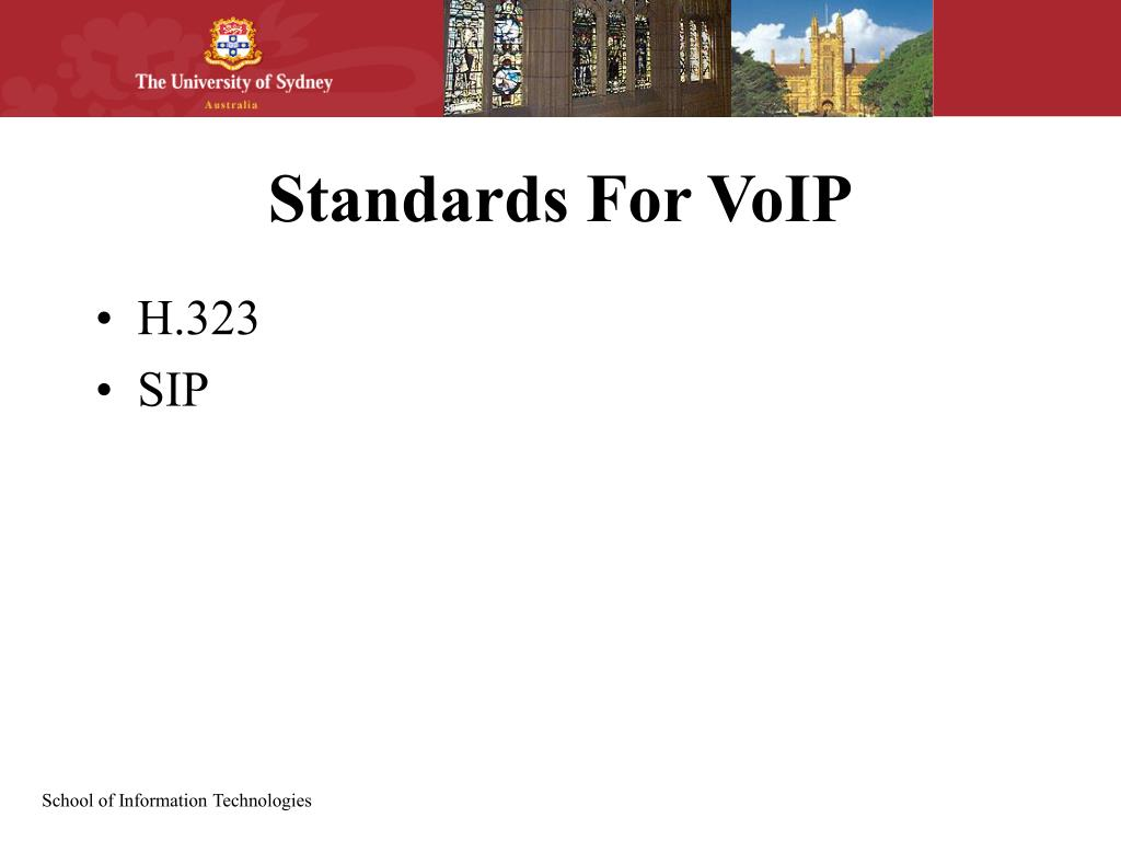Standards For VoIP