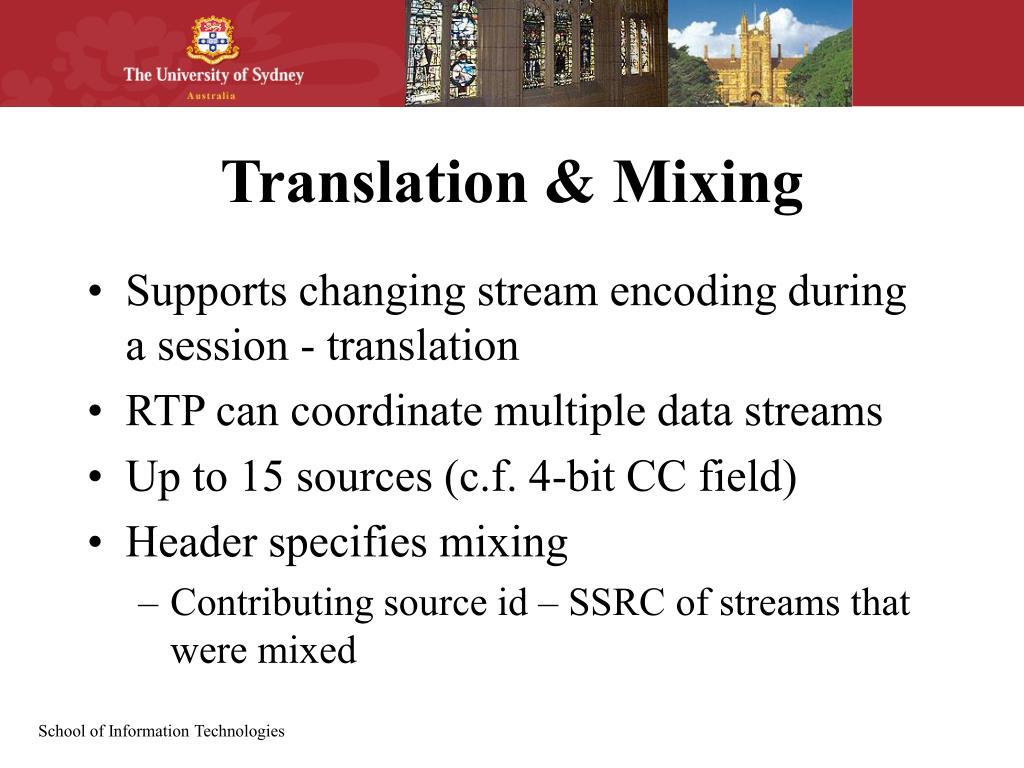 Translation & Mixing