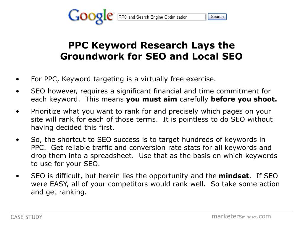 PPC Keyword Research Lays the