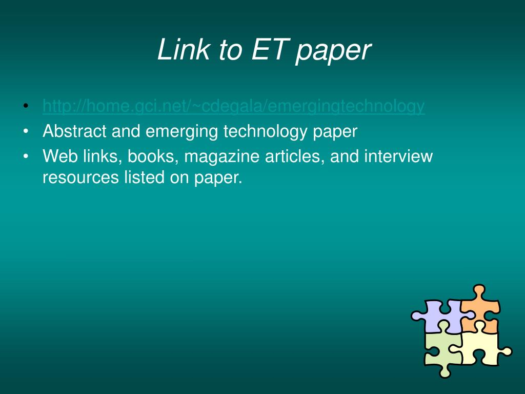 Link to ET paper