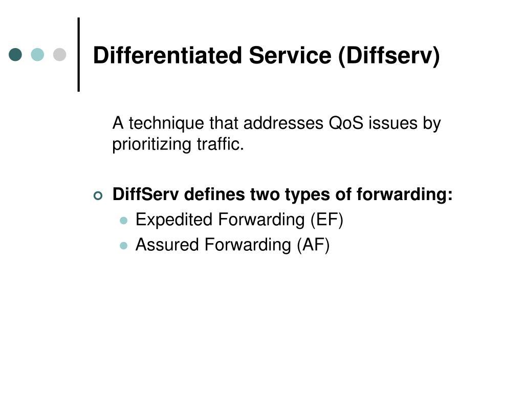 Differentiated Service (Diffserv)