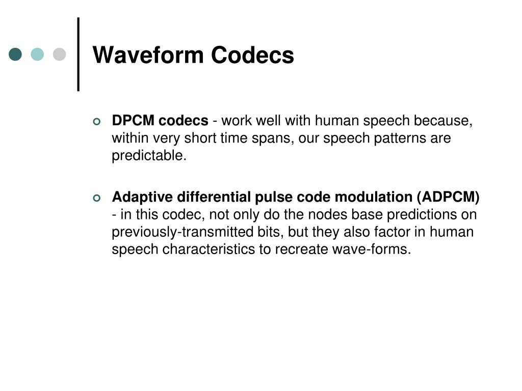 Waveform Codecs