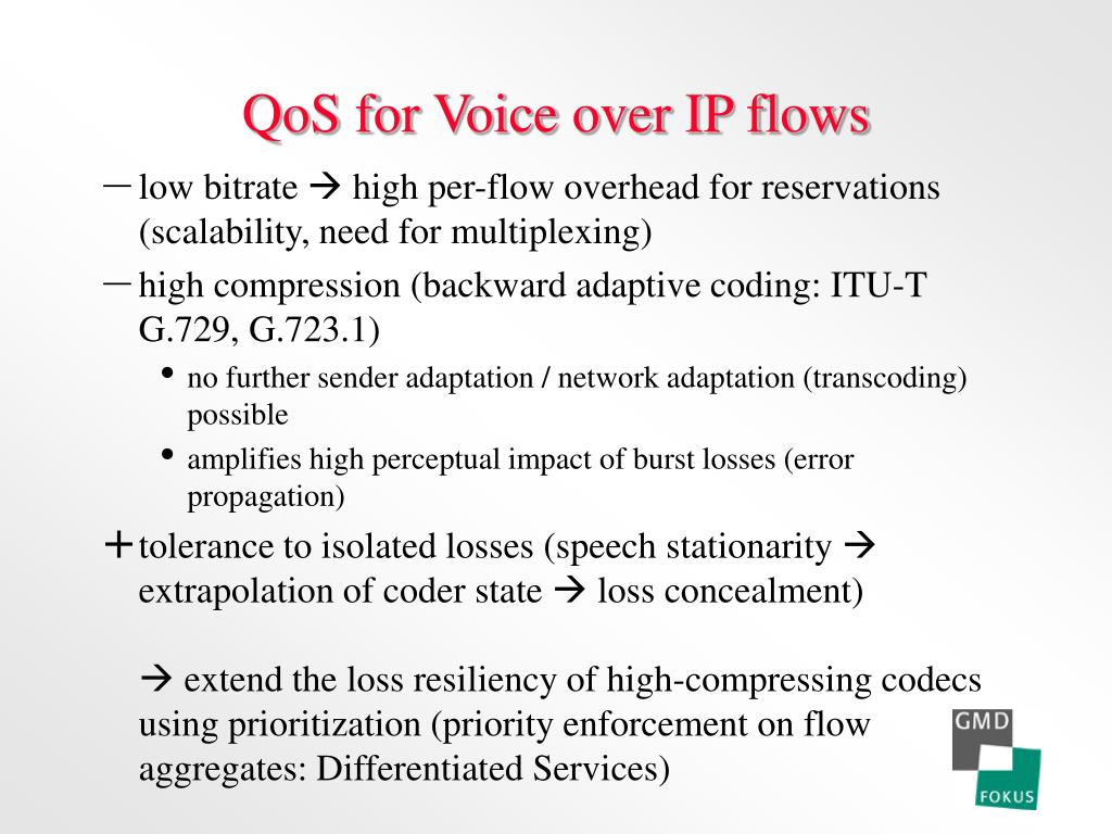 QoS for Voice over IP flows