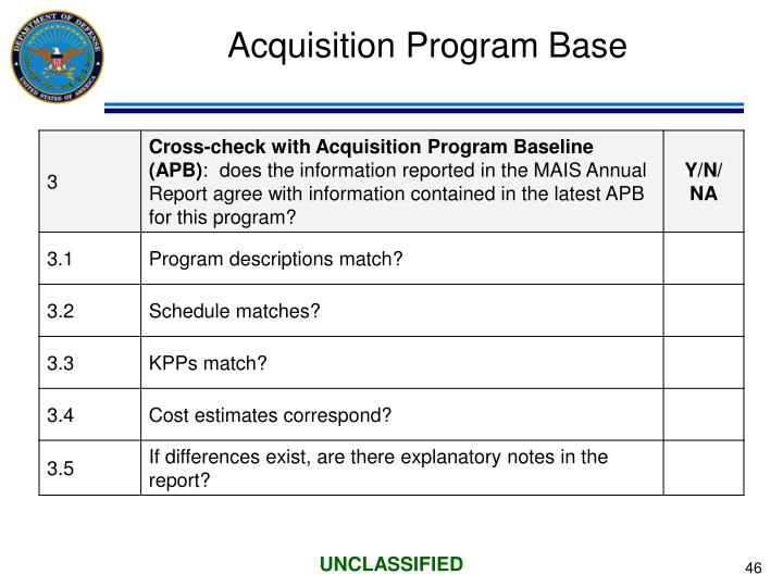 Acquisition Program Base