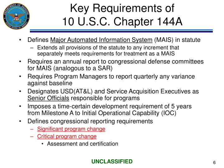 Key Requirements of
