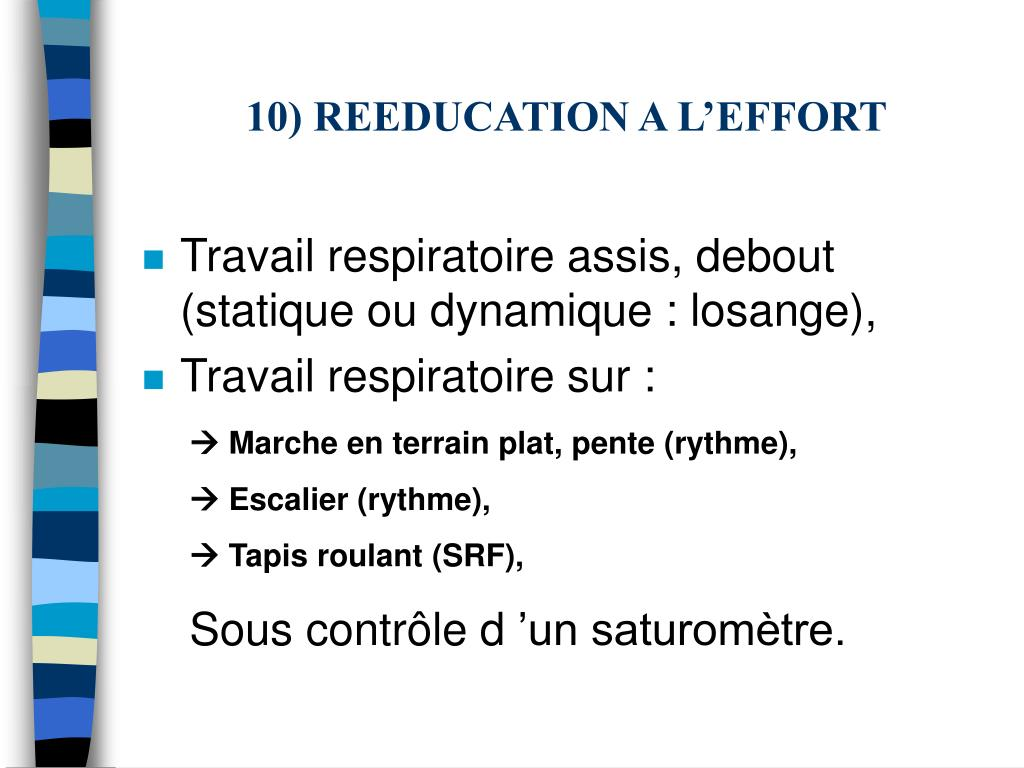 10) REEDUCATION A L'EFFORT
