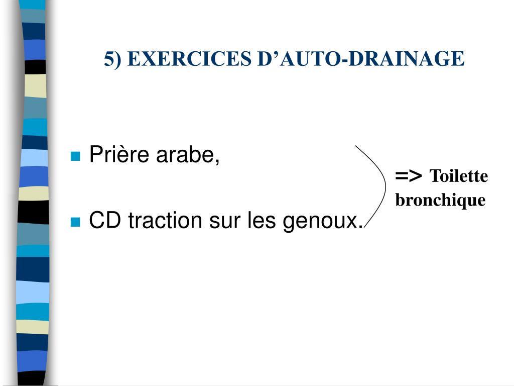 5) EXERCICES D'AUTO-DRAINAGE